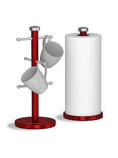 morphy-richards-accents-mug-tree-and-towel-pole-set-ndash-red