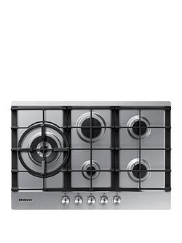 Samsung   Na75J3030As/Eu 75Cm 5 Burner Gas Hob With Cast Iron Grates - Stainless Steel