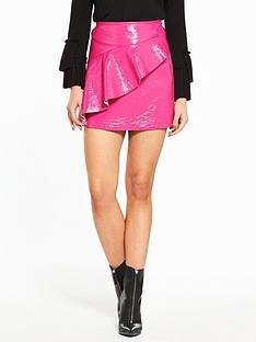 river-island-vinyl-mini-skirt--fuscia