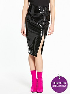 river-island-river-island-high-shine-vinyl-pencil-skirt--black