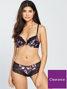 gossard-dark-rose-padded-plunge-bra