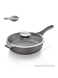 tower-cerastone-28-cm-saute-pan-with-infuser-glass-lid-ndash-grey