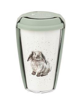 Royal Worcester Royal Worcester Travel Mug &Ndash; Rabbit Picture