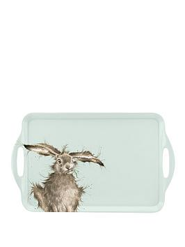 Royal Worcester Royal Worcester Wrendale Large Handled Tray &Ndash; Hare Picture