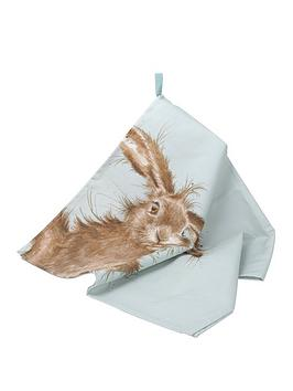 Royal Worcester Royal Worcester Wrendale Tea Towel - Hare Picture