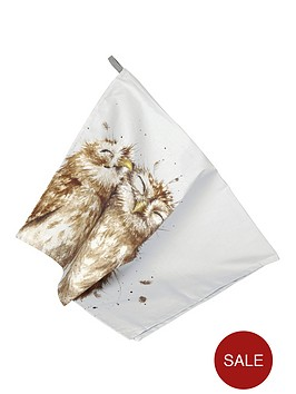 royal-worcester-wrendale-tea-towel-owl