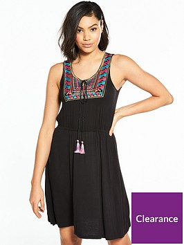 v-by-very-embroidered-jersey-dress-black