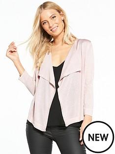 wallis-lurex-waterfall-shrug-pink