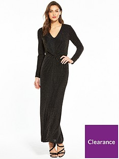 wallis-sparkle-knot-front-maxi-dress-blacknbsp