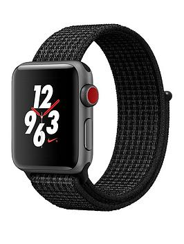 Buy Brand New Apple Watch Nike Series 3 Gps Cellular 38Mm Space Grey Aluminium Case With BlackPure Platinum Nike Sport Loop
