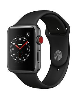 Apple Watch Series 3 (2018 Gps + Cellular), 42Mm Space Grey Aluminium Case With Black Sport Band cheapest retail price