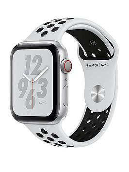 Apple Watch Nike+ Series 4 (Gps + Cellular), 44Mm Silver Aluminium Case With Pure Platinum/Black Nike Sport Band cheapest retail price