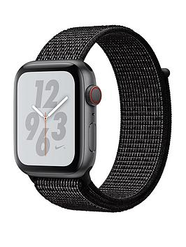 Apple Watch Nike+ Series 4 (Gps + Cellular), 44Mm Space Grey Aluminium Case With Black Nike Sport Loop cheapest retail price