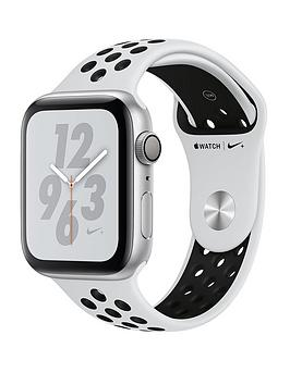 Apple Watch Nike+ Series 4 (Gps), 44Mm Silver Aluminium Case With Pure Platinum/Black Nike Sport Band cheapest retail price