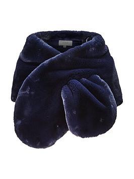 coast-lurex-luella-faux-fur-scarf-navy