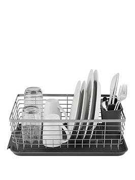 Tower Tower Compact Dish Rack With Cutlery Holder &Ndash; Grey Picture