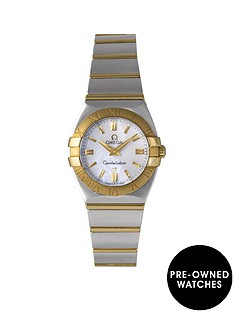omega-omega-pre-owned-constellation-mother-of-pearl-amp-diamond-dial-stainless-steel-amp-rose-gold-ladies-watch-ref-12033000