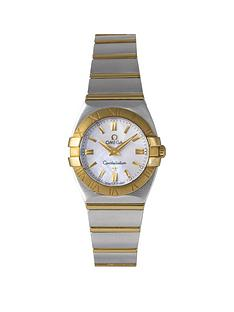 omega-pre-owned-constellation-mother-of-pearl-amp-diamond-dial-stainless-steel-amp-rose-gold-ladies-watch-ref-12033000