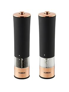 tower-rose-gold-electric-salt-and-pepper-mill-ndash-black