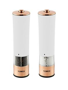 tower-rose-gold-electric-salt-and-pepper-mill-ndash-white