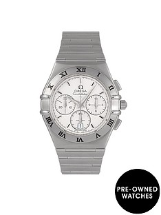 omega-omega-pre-owned-constellation-chronograph-off-white-dial-stainless-steel-mens-watch-ref-15423000