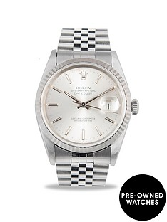 rolex-rolex-pre-owned-datejust-silver-baton-dial-stainless-steel-mens-watch-ref-16014