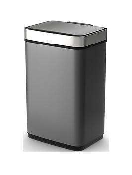 morphy-richards-pro-60-litre-rectangular-sensor-bin-ndash-titanium
