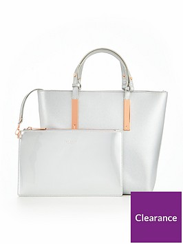 ted-baker-core-leather-large-tote-silvernbsp