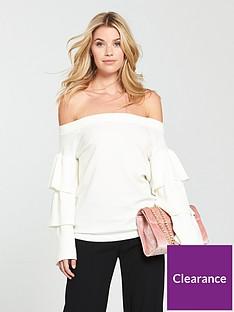 v-by-very-bardot-tiered-sleeve-jumper
