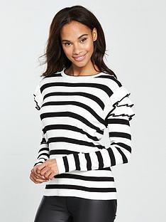 v-by-very-tiered-frill-shoulder-jumper-stripe