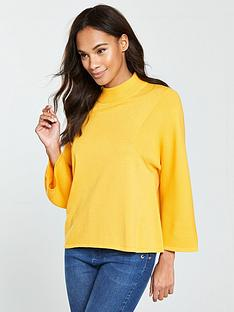 v-by-very-wide-sleeve-turtleneck-rib-jumper-yellow