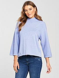 v-by-very-wide-rib-sleeve-turtleneck-jumper-soft-blue