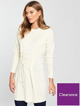 v-by-very-corset-tie-tunic-cream