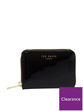 ted-baker-patent-zip-around-mini-purse