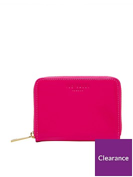 ted-baker-patent-zip-around-mini-purse