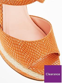 1f25002928 Dune London Kandis High Wedge Sandal - Orange | littlewoods.com