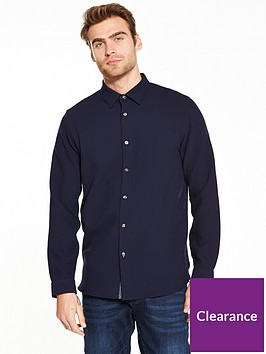 ted-baker-long-sleeve-waffle-stitch-shirt-navynbsp