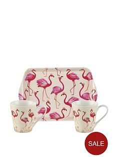portmeirion-sara-millernbspflamingo-mug-and-tray-set
