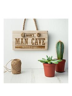 personalised-man-cave-wooden-sign