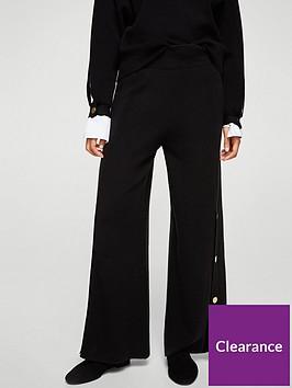 mango-gold-button-knit-trouser-black