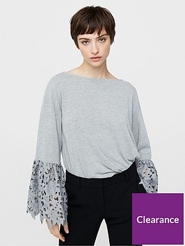 mango-lace-sleeve-top