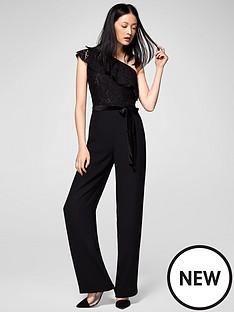 mango-one-shoulder-lace-jumpsuit