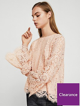 mango-bell-sleeve-lace-blouse