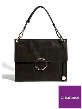 karen-millen-o-ring-collection-flapover-bag