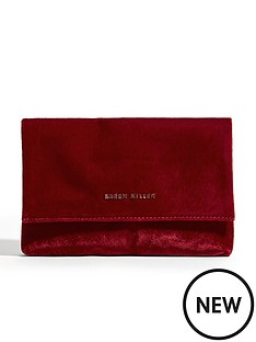 karen-millen-velvet-brompton-bag