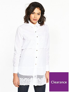 river-island-lace-panel-shirt--white
