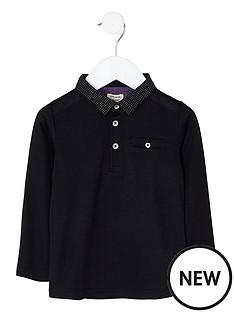 river-island-mini-boys-black-dotty-collar-polo-shirt