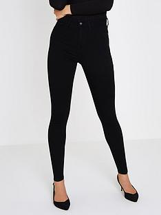 river-island-river-island-short-leg-harper-high-rise-jeggings--black