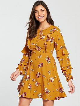 v-by-very-ladder-trim-frill-a-line-dress