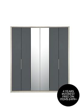 consort-jupiter-6-door-centre-mirrored-bi-fold-wardrobe
